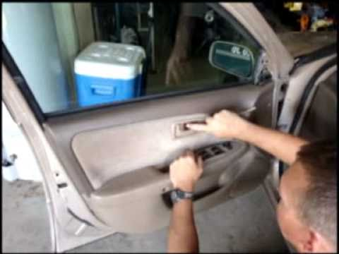 How To Install Replace Remove Door Panel Toyota Camry 97 01 How To Save Money And