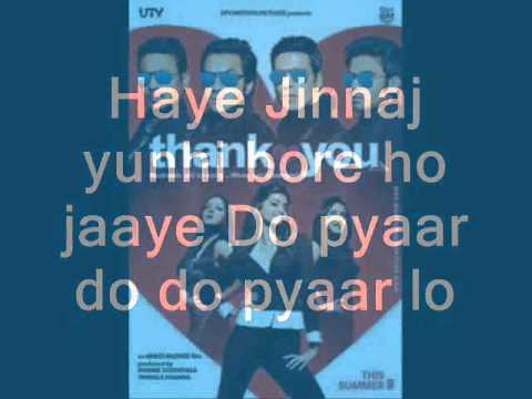 Thank You 2011 - Pyaar Do Pyaar Lo Lyrics video