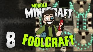 Minecraft: FOOLCRAFT | #8: DEMENTED MOBFARM 🌑 (DONT JUDGE ME!!) [Modded Minecraft]