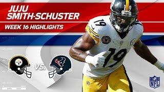 JuJu Smith-Schuster Highlights | Steelers vs. Texans | Wk 16 Player Highlights