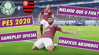 PES 2020 GAMEPLAY OFICIAL - É MELHOR QUE O FIFA? - PALMEIRAS X FLAMENGO