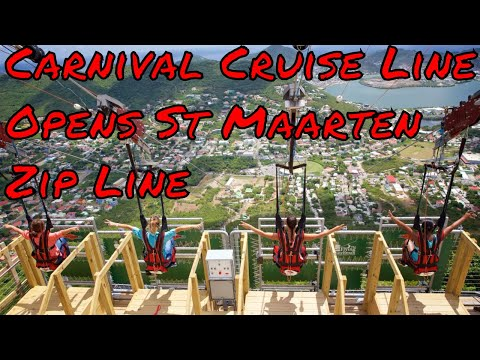 Carnival Cruise Lines and Rainforest Adventures Open Up New Zip Line Park in St Maarten