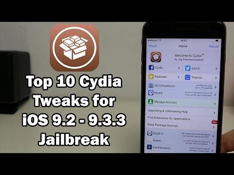 Top 10 Cydia Tweaks for iOS 9.3.3 / 9.3.2 / 9.3.1 Jailbreak