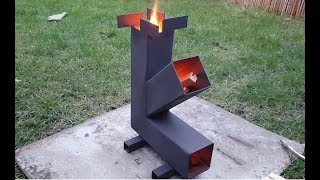 "Simple Camping ""Rocket"" Stove Build DIY"