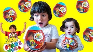Opening New RYAN'S WORLD MINI MYSTERY EGG Surprise Toys for Kids Build a Ryan Figure Toy Review