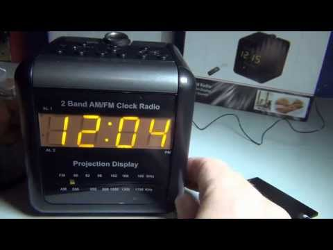 Projection Spy Clock AM/FM Radio Dual Alarm Wifi DVR 32GB Motion Detect IP Colour Camera review