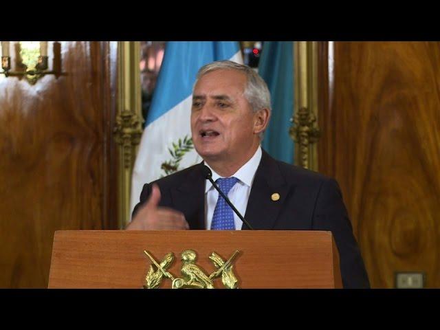 Guatemala president 'calm' as impeachment storm swirls