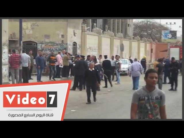 اللقطات الأولى لانفجار قنبلة جامعة القاهرة وإصابة 4 ضباط ومجند