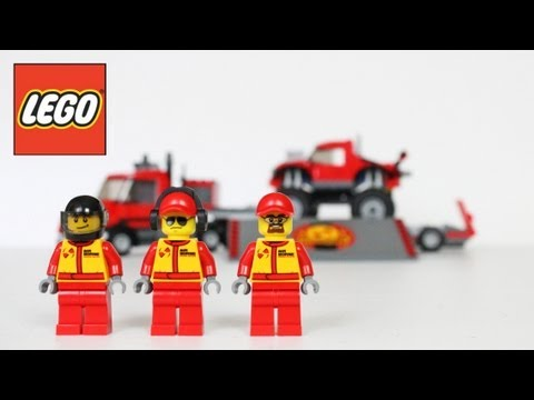 LEGO Monster Truck Transporter Review. Unboxing. Time Lapse Build City 60027