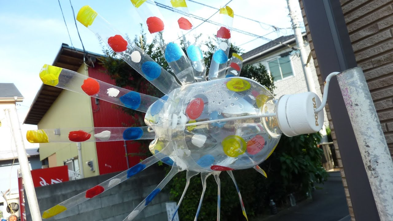 How To Make A Plastic Bottle Windmill Youtube