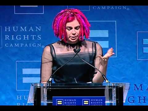 Lana Wachowski receives the HRC Visibility Award