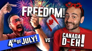 Independence Day vs. CANADA Day...Who Parties HARDER?