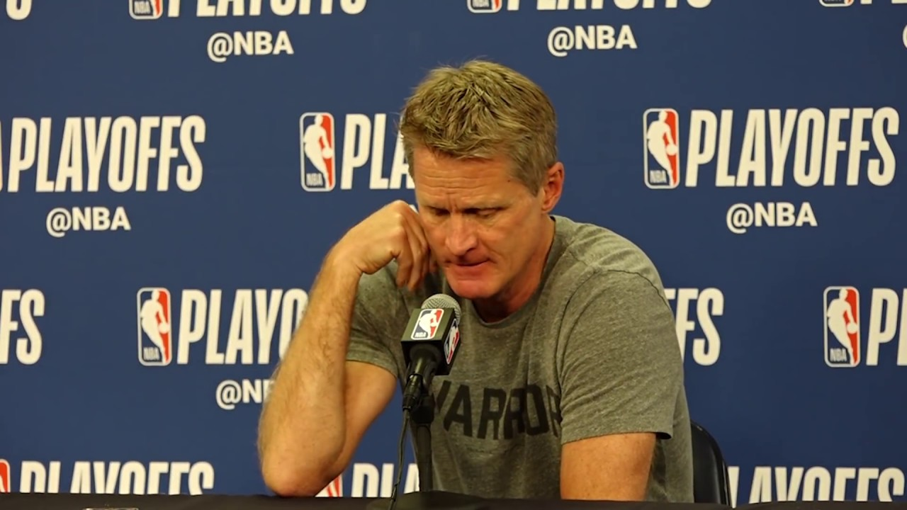 Golden State Warriors coach Steve Kerr speaks before Game 4 against the New Orleans Pelicans