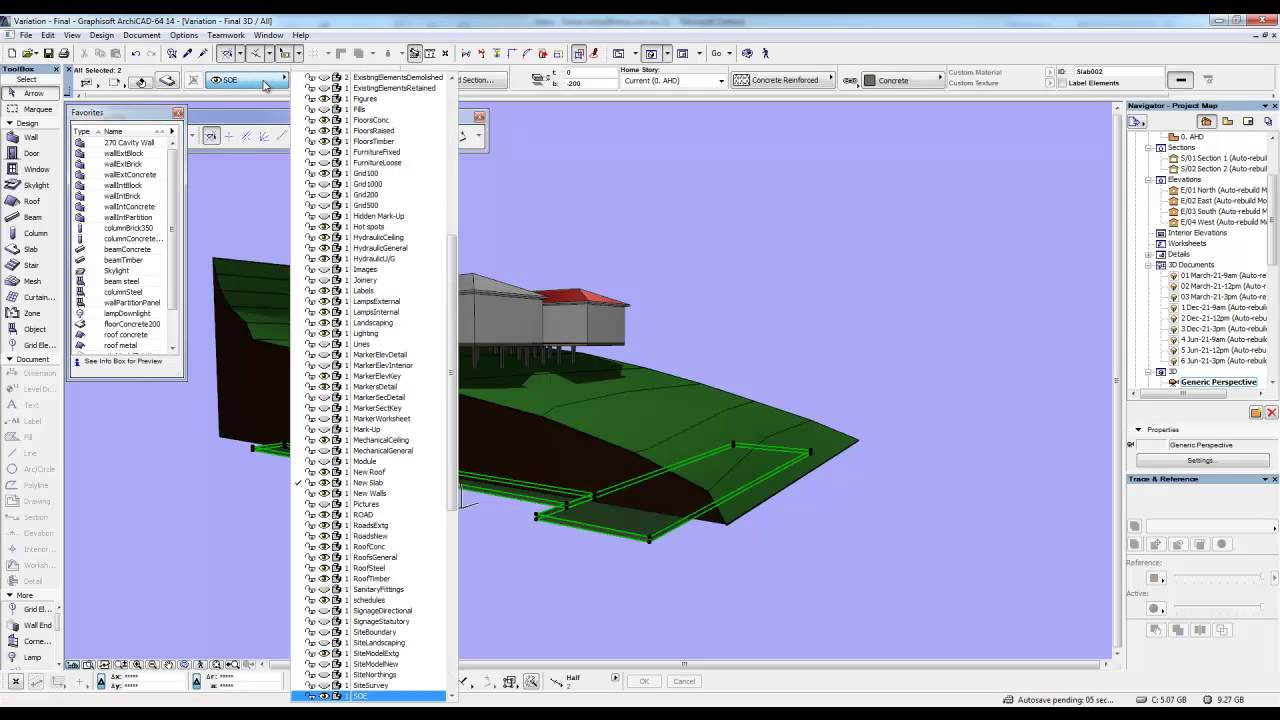 how to create topography in archicad