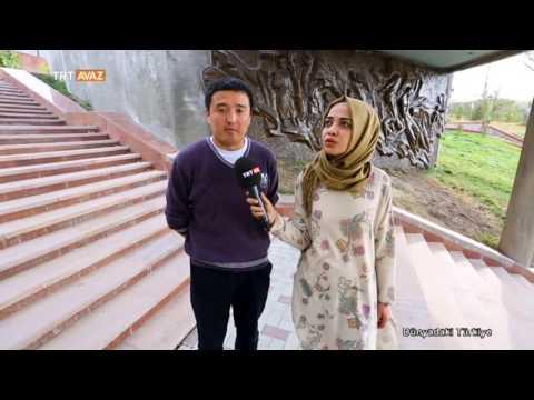 Kırgızistandaki Ata Beyit Mezarlığını Görü...
