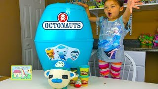 Octonauts Biggest Surprise Egg Ever with Capt Barnacles PlayDoh Surprise Egg and Kinder Toys