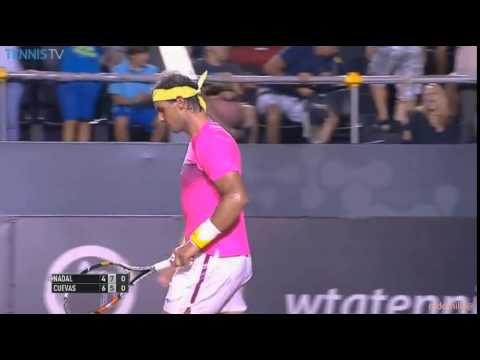Rafael Nadal vs Pablo Cuevas Rio Open 2015 highlight