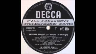 Handel Messiah Choruses Side 1