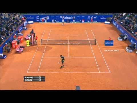 Milos Raonic vs Rafael Nadal Barcelona 2013 Highlights HD