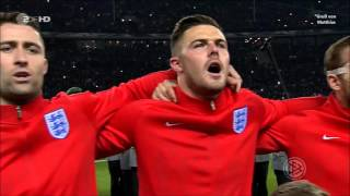 English national anthem before the football match Germany-England on 26.03.2016