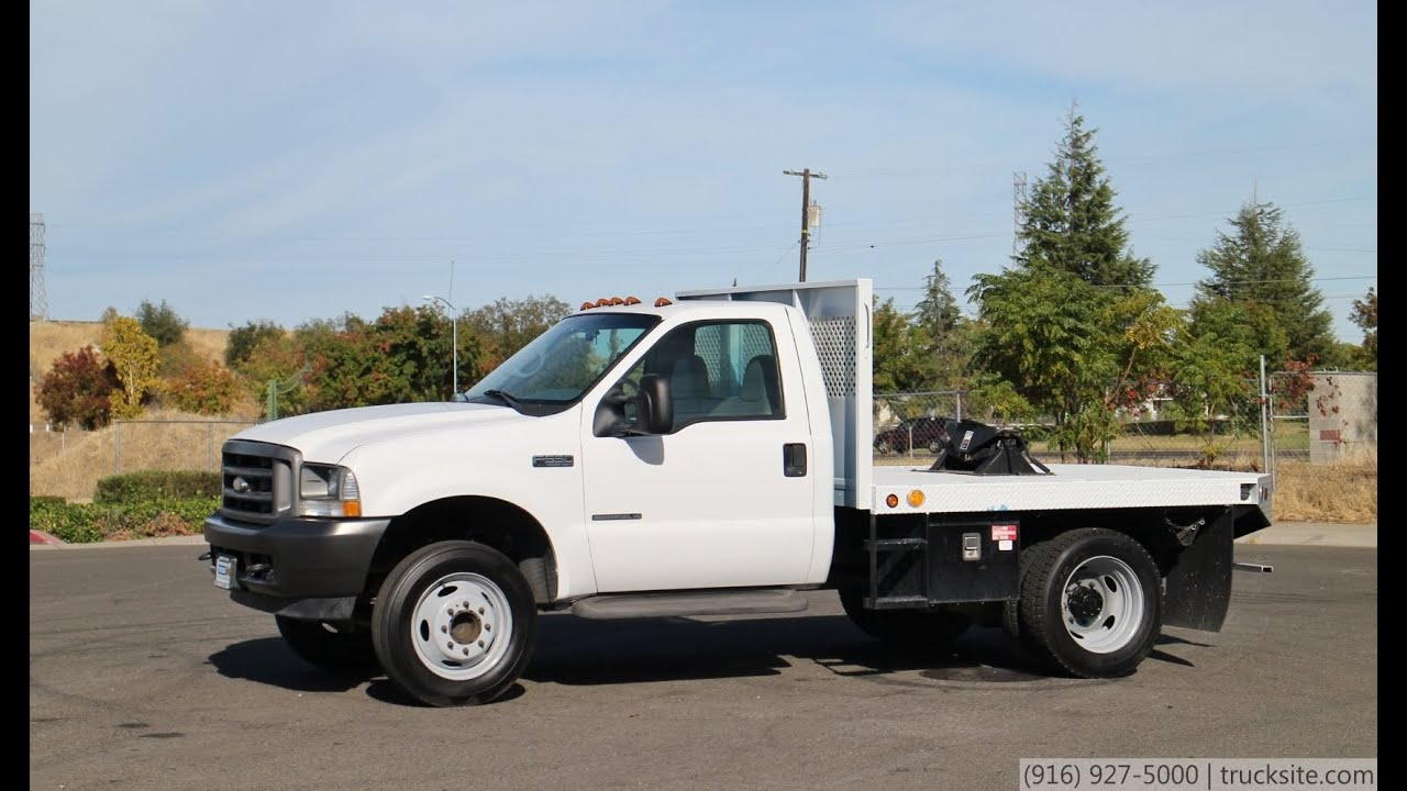 F550 For Sale >> 2002 Ford F550 XL Super Duty 9' Flatbed for sale by TruckSite.com - YouTube
