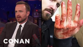 Aaron Paul's Sawed Off Pinky Finger  - CONAN on TBS