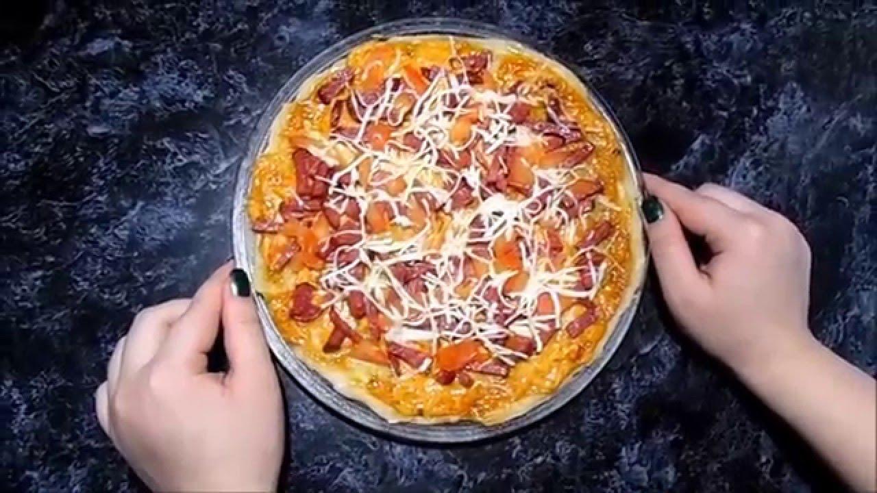 Как сделать пиццу в микроволновке за 5 минут видео