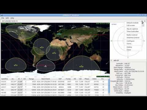 Filtered search in the Gpredict satellite selector