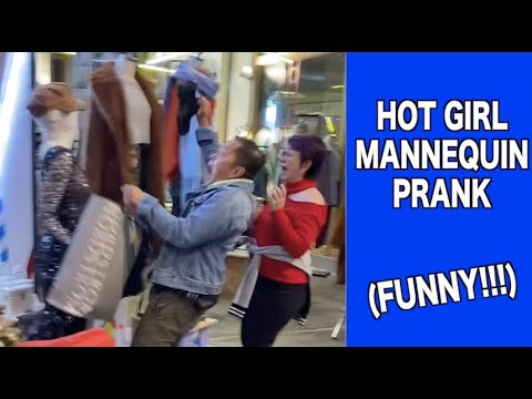 Hot Girls Mannequin Prank | Try not to Laugh!