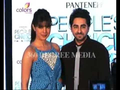 Hot Sexy Priyanka Chopra With Ayushmann Khurana- Launches People's Choice Awards video