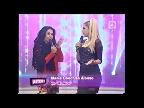 Maria Conchita Alonso en peru en el programa AL AIRE