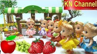 KN Channel BÚP BÊ ĐI SIÊU THỊ MUA TRÁI CÂY BẰNG KẸO DẺO Đồ chơi nhật bản Popin Cookin CỦA BÉ NA