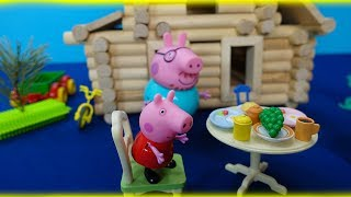 Peppa Pig in English. Peppa and her family move the house. Peppa Pig and her new house