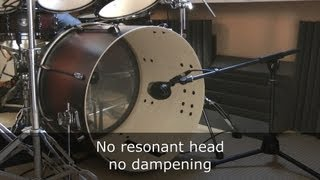 Bass drum miking setups