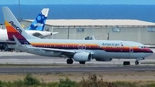 *AIRCAL Heritage* by American Airlines Boeing 737-800 Very Humid Departure [HD]