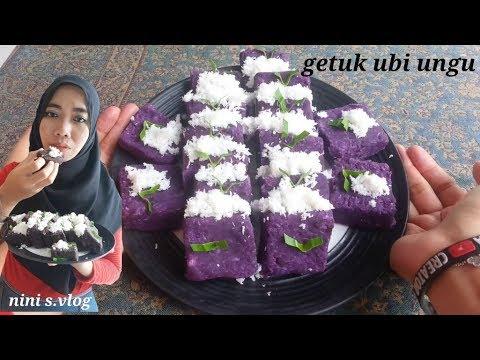 Resep membuat Getuk ubi ungu simple dan enak