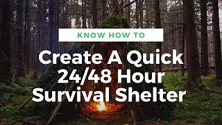 Know How to Create A Quick 24/48 Survival Shelter or Primitive Bed. Paleo Tracks Survival