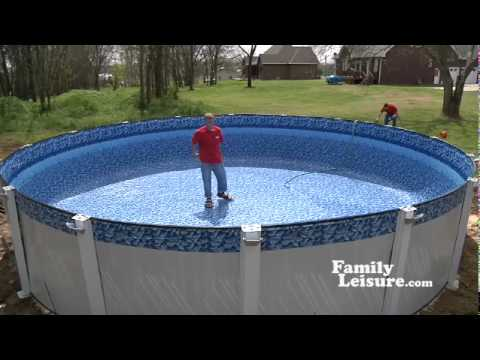 Swimming pool installation what to expect 2 of 2 youtube for Above ground pool installation