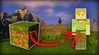 TRANSFORM INTO a BLOCK in Minecraft! (no mods!)
