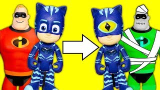 PJ Masks Romeo Plays Spooky Tricks on Vampirina the Mr. Incredible and Gekko