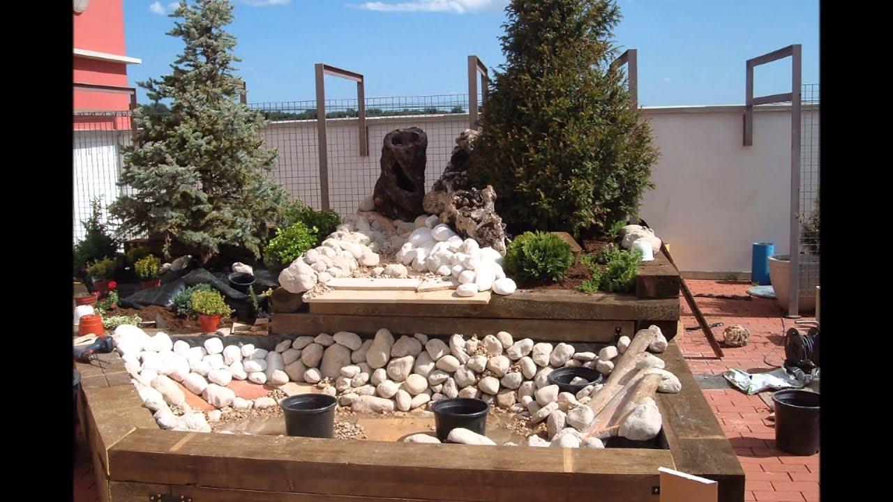 Jardinera con estanque youtube - Jardineras con palets de madera ...