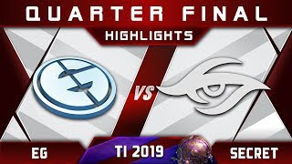 EG vs Secret [EPIC] TI9 The International 2019 Highlights Dota 2