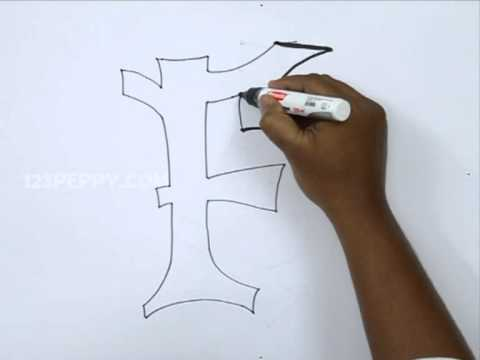 How to Draw Graffiti Letter F