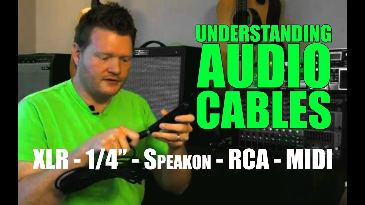 understanding audio cables  xlr  speakon  rca