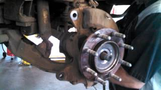 Wheel bearing replacement 2006 Chevrolet 2500HD Hub assembly front Install Remove Replace