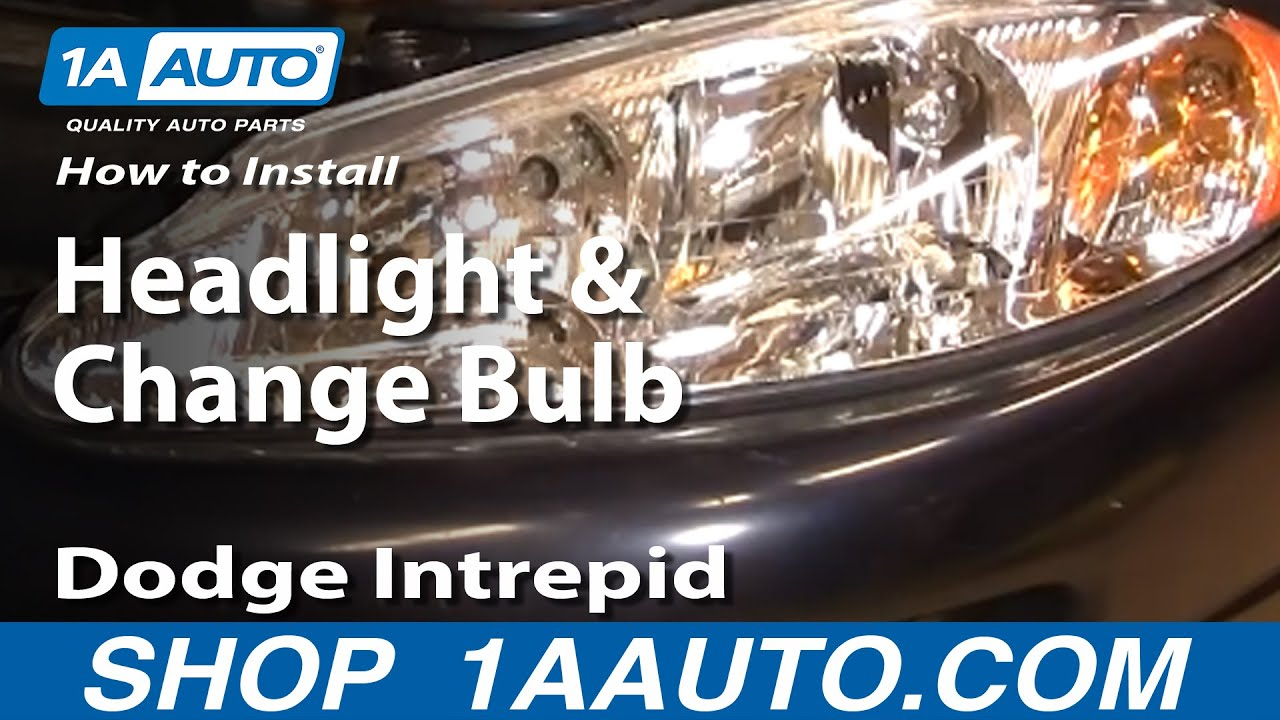 install replace headlight  change bulb dodge