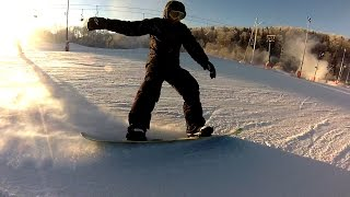 Snowboarding with Friend in Stepanovo, Russia