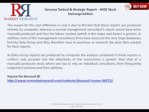 Gencorp Tactical & Strategic Report of NYSE Stock Exchange for 2015
