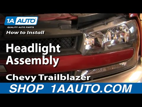 How To Install Repair Replace Headlight Assembly Chevy Trailblazer 02-05 1AAuto.com