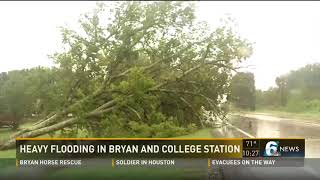 Heavy flooding in Bryan and College Station